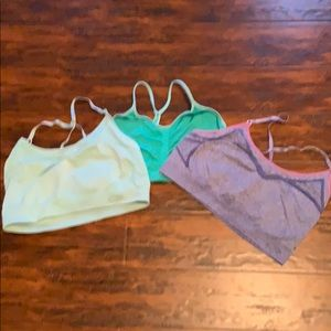 Set of 3 c9 champion sports bras blue,purple,green